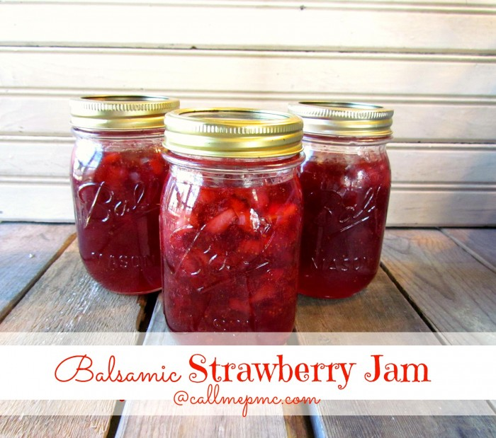 Strawberry Balsamic Jam Jelly Gift in a Jar