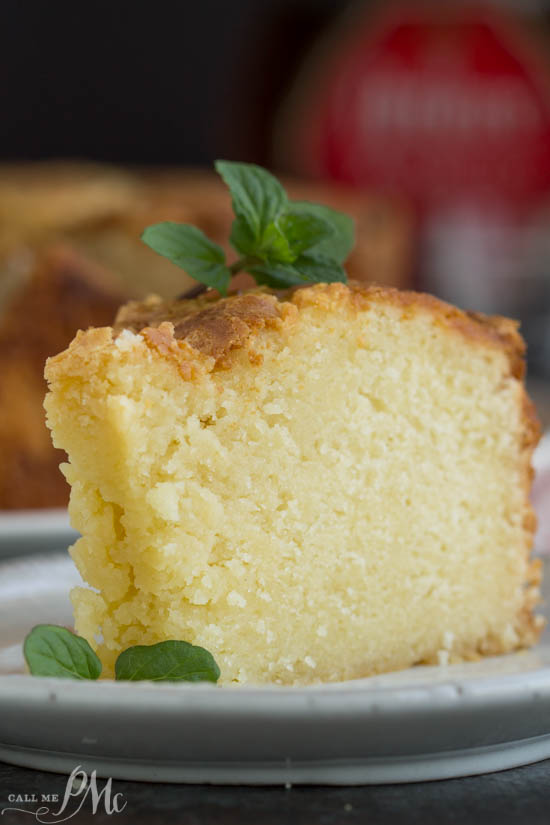 Amaretto Pound Cake is flavored with an almondliqueur. Made from scratch, it's rich, buttery, moist, and completely, insanely delicious! #cake #poundcake #poundcakepaula #dessert #recipe #homemade #moist #fromscratch #paula via @pmctunejones