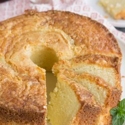 Amaretto Pound Cake is pound cake flavored with an almond liqueur. Made from scratch, it's rich, buttery, moist, and completely, insanely delicious!