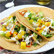 Fish Tacos with Mango Avocado Relish