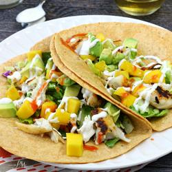 Fish Tacos with Mango Avocado Salsa