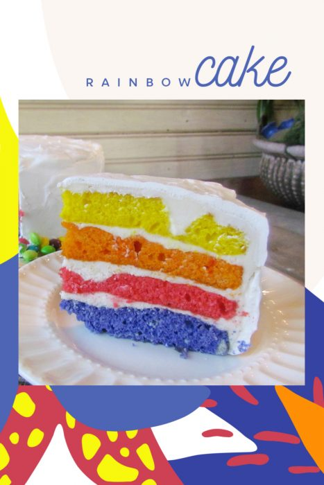 Cool Easy Rainbow Cake Call Me Pmc Funny Birthday Cards Online Elaedamsfinfo