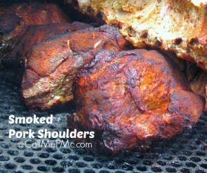 Smoked Pork shoulders