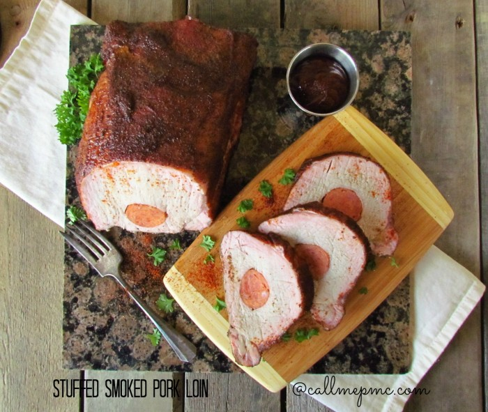 Stuffed smoked pork loin #callmepmc #pork #smoking #grilling #grillingrecipes Perfect for Father's Day
