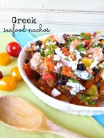 greek seafood nachos #seafood #shrimp #crawfish #nachos #callmepmc