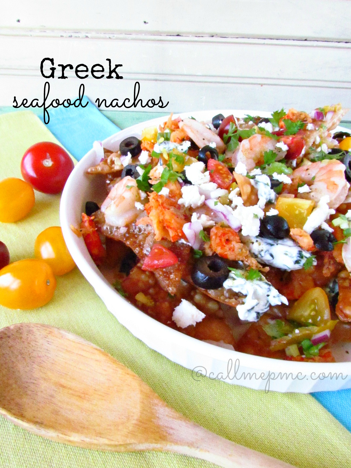 Greek Seafood Nachos