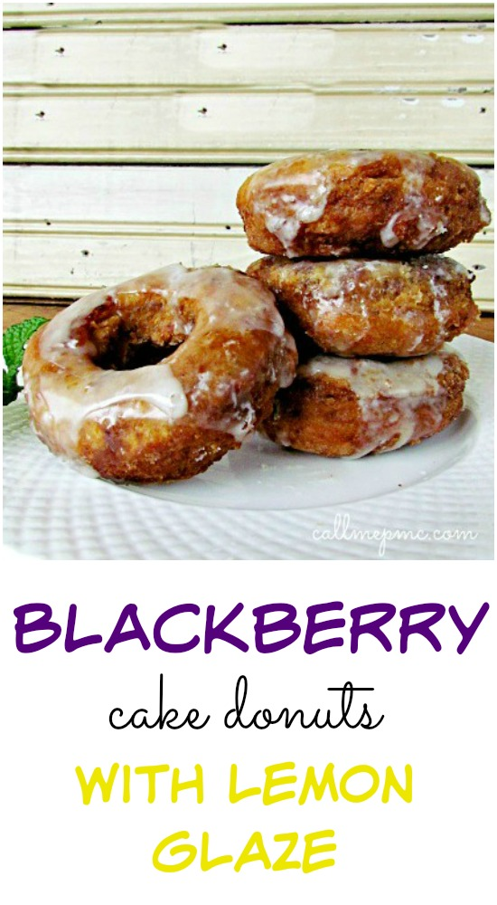 Blackberry Cake Donuts