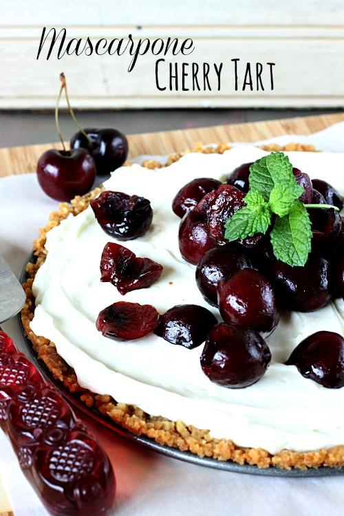 Mascarpone-cherry-tart #callmepmc