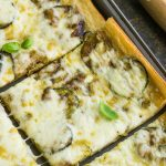 Fresh Zucchini Tart starts with an easy premade crust, topped with zucchini then smothered with cheese.