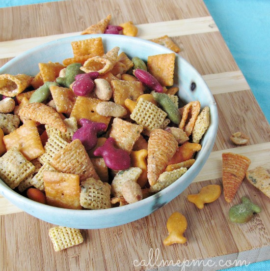 ultimate snack mix recipe with all the crispy, salty favorites