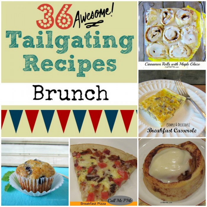 36 Tailgating Recipes Brunch #callmepmc https://www.callmepmc.com/2013/08/36-tailgating-recipes-brunch/ #tailgating