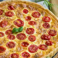 Tomato Cheese Tart has a buttery, flaky, and tender crust filled with creamy cheese and topped with sun-ripened tomatoes.