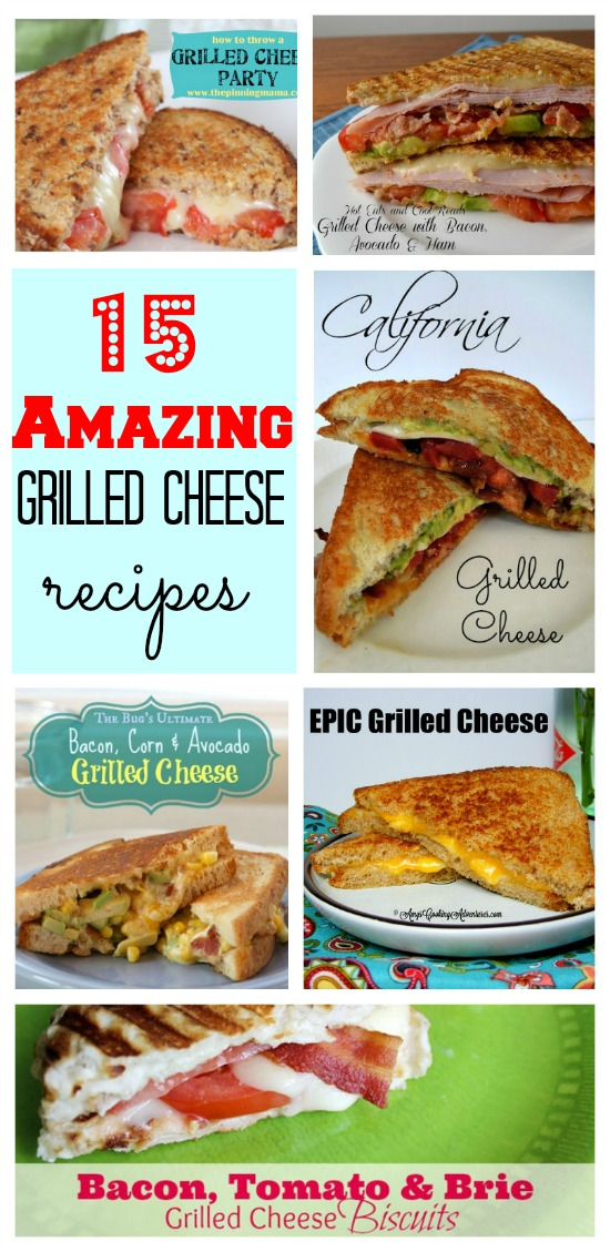 15 Grilled Cheese Recipes #callmepmc Creamy comforting Grilled cheese from blogger CallMePMc.com