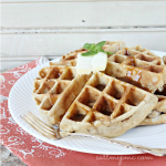 Apple Fritter Waffles with Caramel