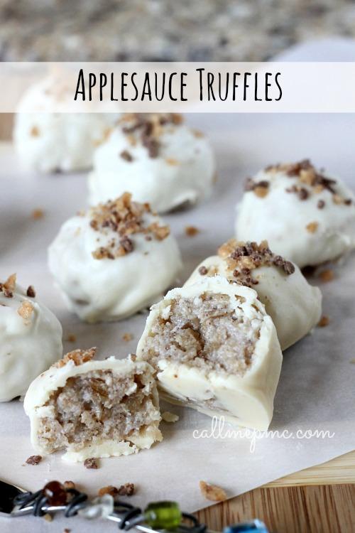 Applesauce truffles #callmepmc