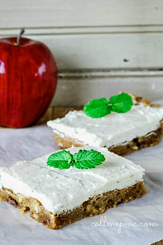 Favorite Caramel Apple Blondies with Browned Butter Frosting