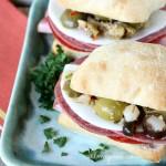 Mini Muffuletta sandwich
