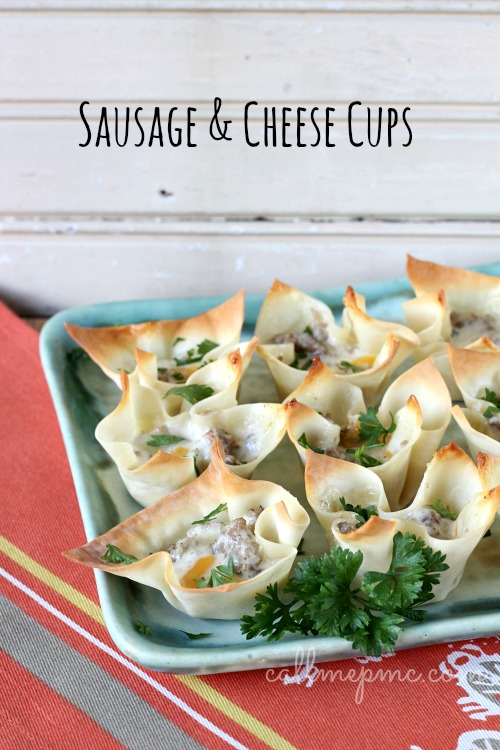 Sausage & Cheese cups #callmepmc
