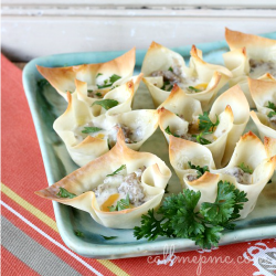 Sausage and Cheese Cups