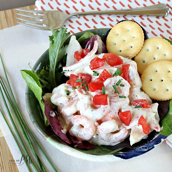 Lighter Shrimp Crab Salad recipe