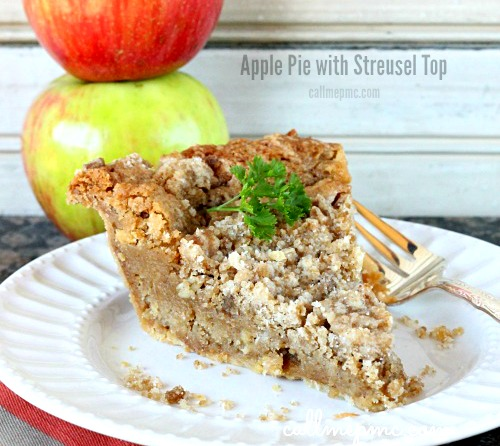 Apple Chess Pie with Streusel Topping