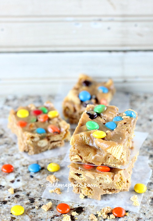 Peanut Butter Crunch Bars from Call Me PMc