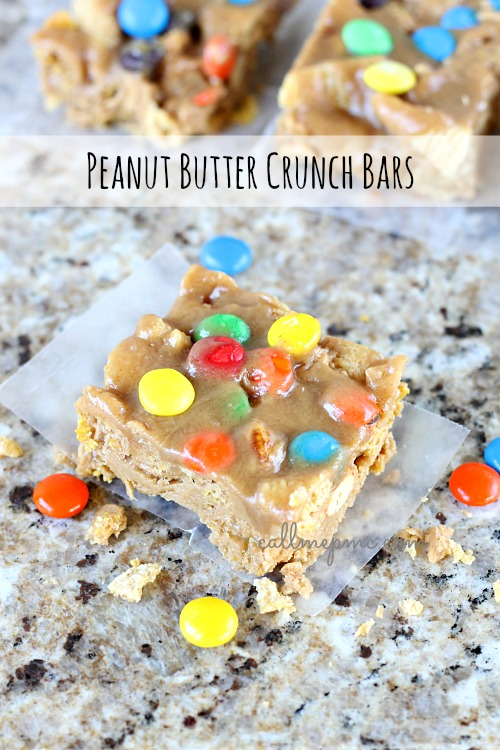Peanut Butter Crunch Bars www.callmepmc.com