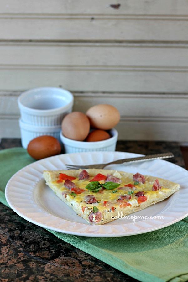 Ham Cheese Breakfast Pizza