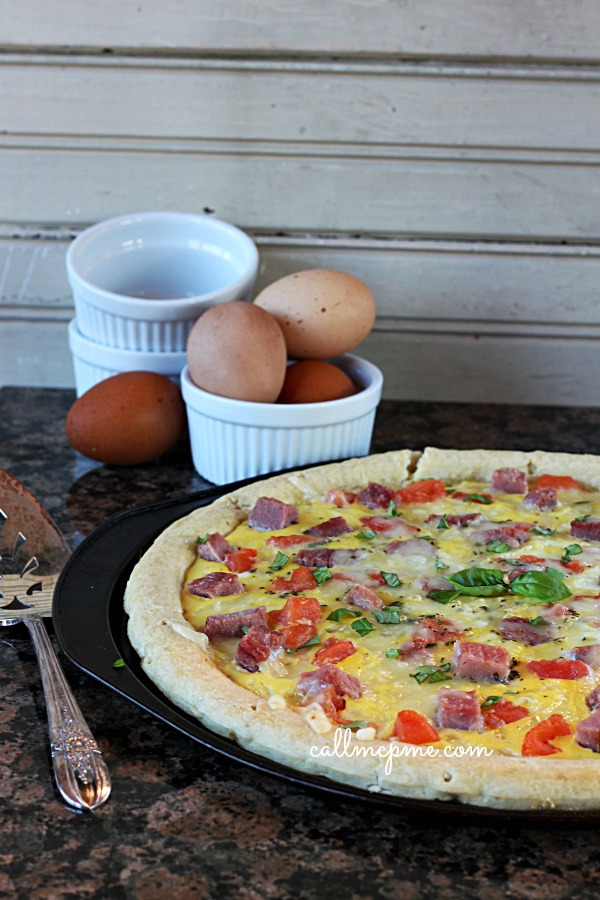 Ham and Cheese Breakfast Pizza