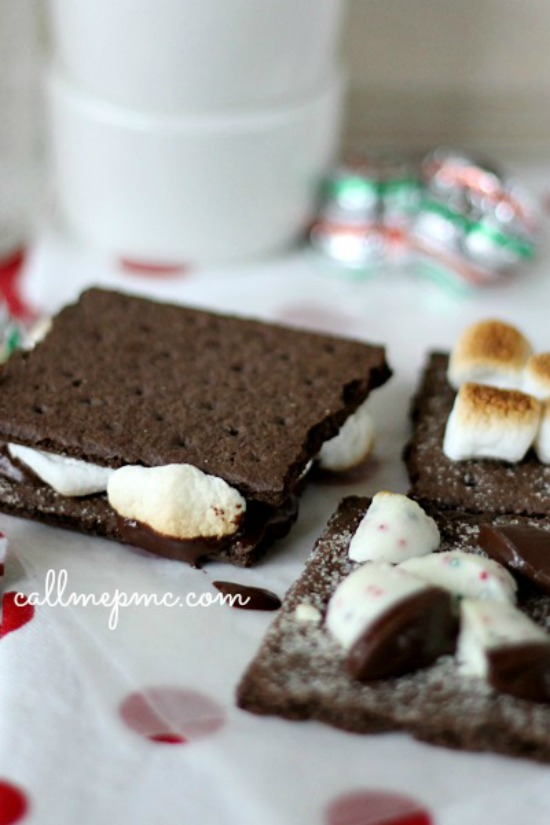 Indoor Chocolate Mint S'mores Recipe