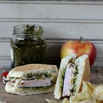 Turkey Pesto Cheese Sandwich