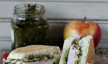 Baked Focaccia Turkey Sandwich