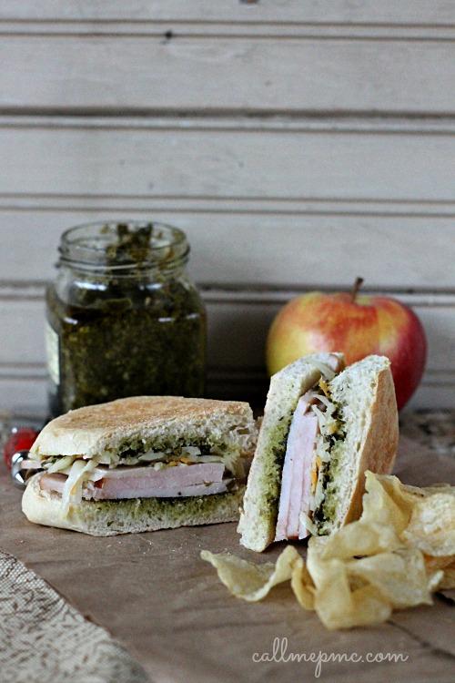 Turkey Pesto Cheese Sandwich