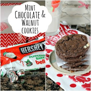 Mint Chocolate & Walnut Cookies