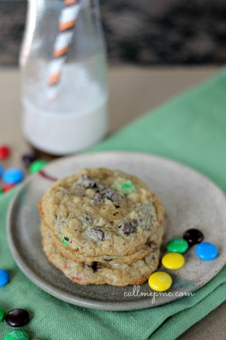 Pretzel Chocolate Chip Oatmeal M&M Cookie