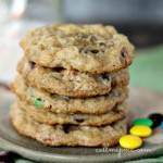Monster Pretzel Chocolate Chip Oatmeal M&M Cookie