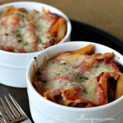 Baked Sausage Pepperoni Penne Pasta Casserole