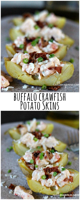 Buffalo Crawfish Potato Skins