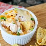 Hot Crawfish Cheese Dip -Creamy, hot, spicy everything you want in a dip! Serve at Super Bowl &bond over good food, good drinks, amazing commercials,oh, & the football game!