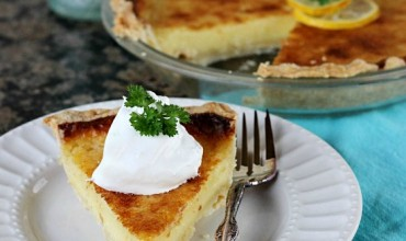 Lemon Chess Pie with Coconut Oil Pie Crust