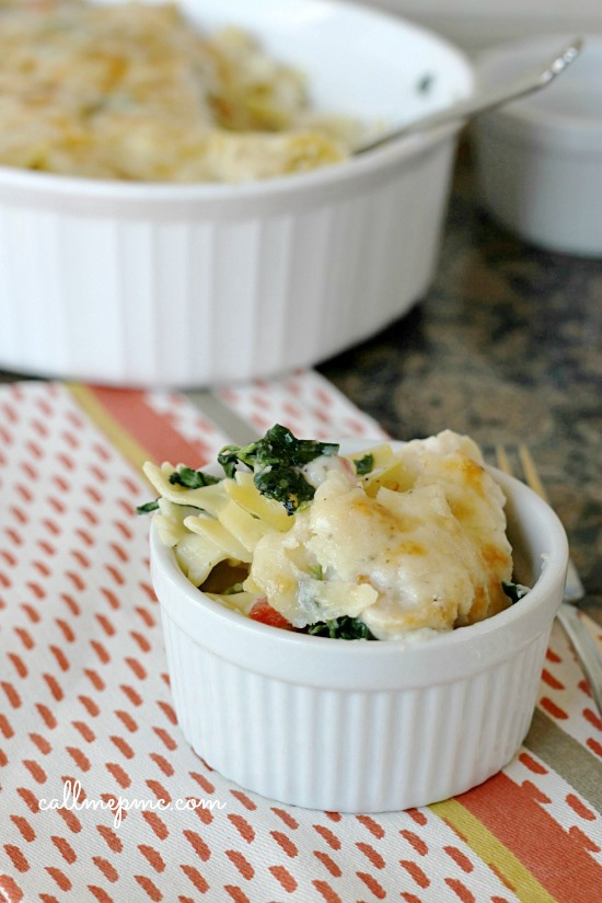 Artichoke Spinach Baked Pasta