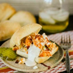 Spicy and hot, these mouth-watering Slow Cooker Buffalo Chicken Sliders are a hit with my family. Cook time is hands-off in the slow-cooker, which makes it a fantastic dinner option for busy nights