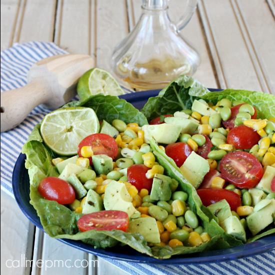 Edamame Corn Tomato Salad