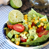 Edamame Corn Avocado Salad