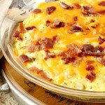 Bacon Egg Cheese and Potato bake