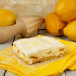 No Bake Lemon Cheesecake Bars