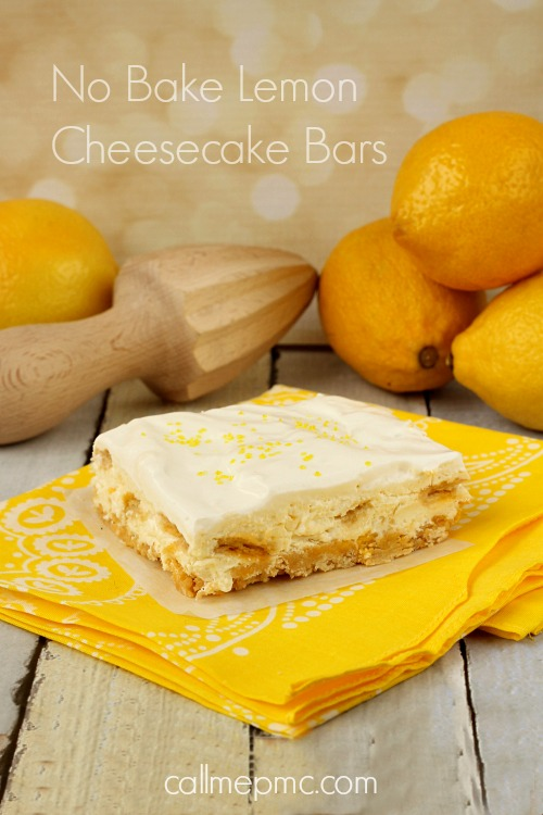 ... first descriptions I think of as I taste No Bake Lemon Cheesecake Bars