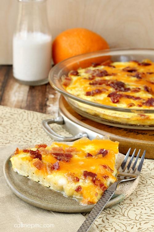 Potato Egg Bacon Cheese Bake