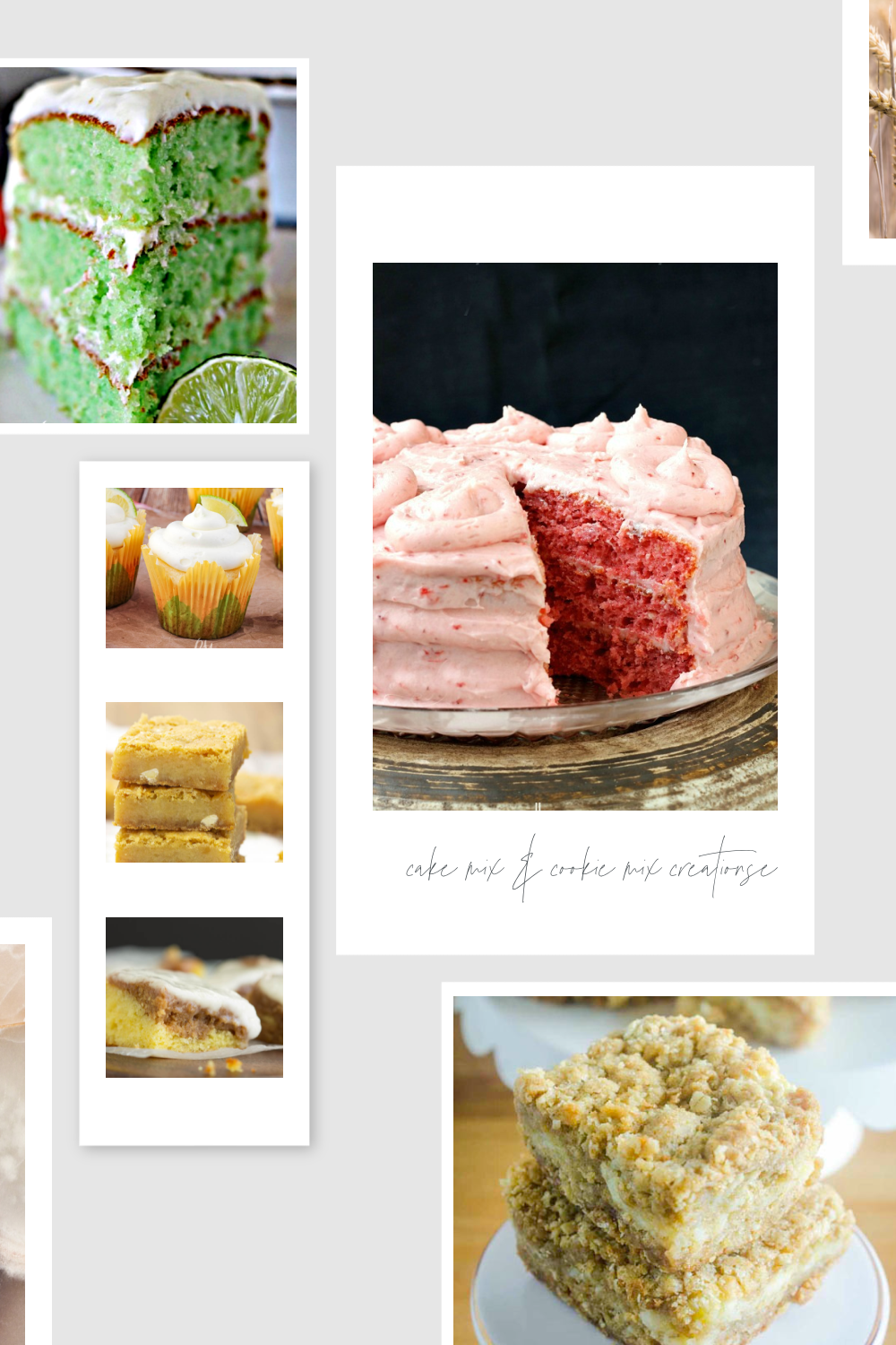 I'm sharing 13 Cookie and Cake Mix Creations today that all start with a mix.