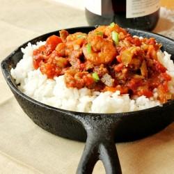 Shrimp Crawfish and Scallop Jambalaya